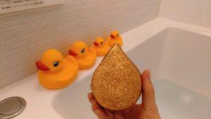 『LUSH ゴールドフィーバー』で輝き揺らめく濃密泡風呂!【口コミ】